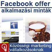 Facebook offer példák