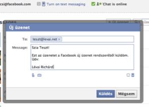 Üzenet küldés a Facebookon
