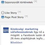 Szponzorált történet beállítás a Facebook hirdetésnél