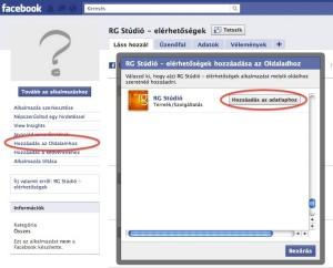 Alkalmazás hozzáadása a Facebook oldalhoz