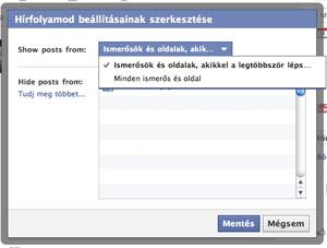 A Facebookon megválaszthatod, kinek az üzenetei jelenjenek meg a hírfolyamodban