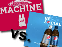 Coca Cola és Pepsi italautomaták
