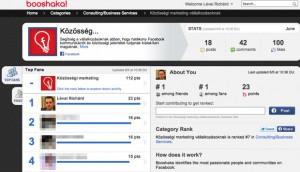 Booshaka rajongói statisztika Facebook oldalakhoz