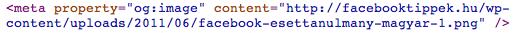 Alapértelmezett Facebook kép kiválasztása open graph protokollal