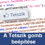Facebook Tetszik gomb beillesztése egy weboldalba