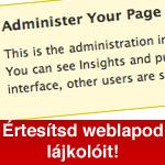 Értesítsd azokat a Facebookon belül, akik megnyomták a Tetszik gombot a weboldaladon!