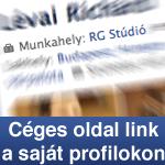 Munkahely link beállítása Facebook profilban