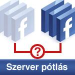Facebook alkalmazás szerver helyettesítése