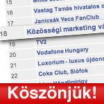 SocialTimes 26. heti toplista