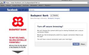 Budapest Bank Facebook oldala