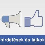 Facebook hirdetések és lájokok