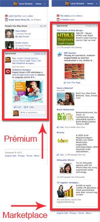 Facebook hirdetések: prémium vs marketplace