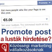 Promote post Facebook hirdetés