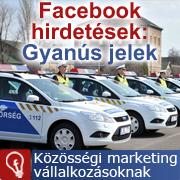 Facebook hirdetések és gyanús jelek