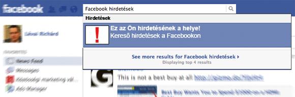 Facebook hirdetések keresésekre