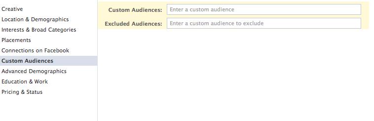 Custom audiences célzás