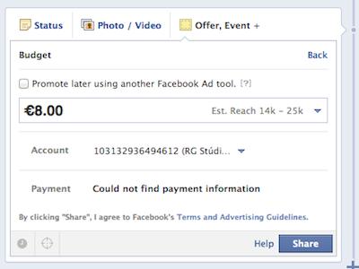 Facebook offer nincs ingyen