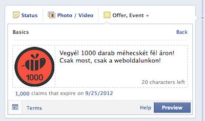 Szerkeszd meg a Facebook ajánlatot