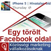 A hamis iPhone 5 oldal esete: a Facebook töröl ha szabálytalankodsz