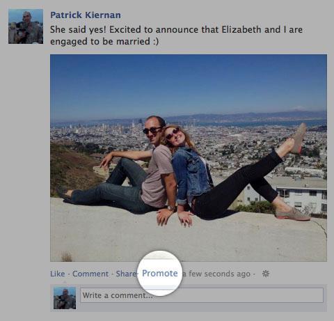 Promoted post embereknek, apróhirdetés a Facebookon