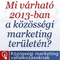 Közösségi marketing trendek 2013-ban