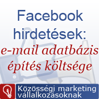 Facebook hirdetés és e-mail adatbázis építés