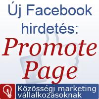 Promote page like facebook hirdetés