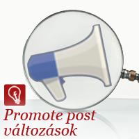Promote post változások