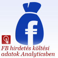 Facebook hirdetés költési adatok Google Analyticsben