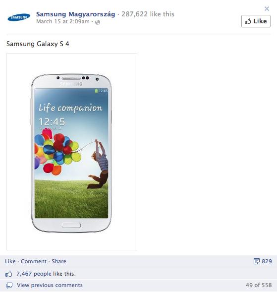 3. Samsung Magyarország - összes interakció: 9874, aktivitási arány: 4,59%