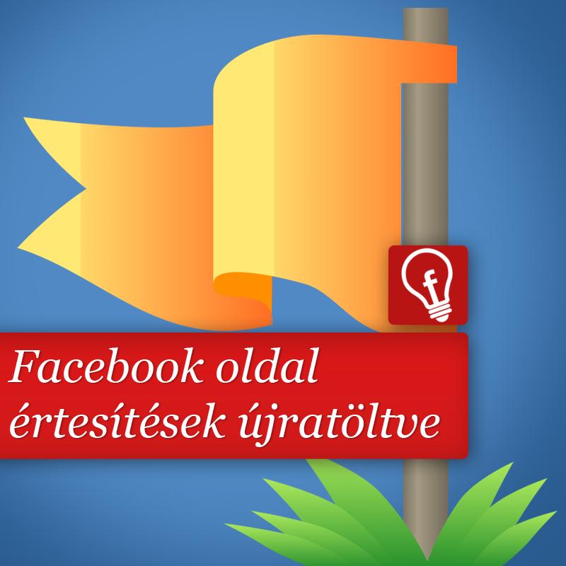 Facebook oldal értesítések