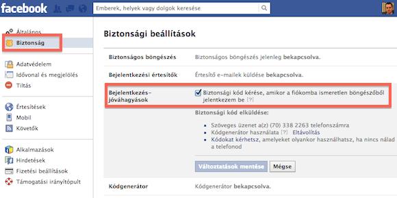 A Facebook profil beállításoknál kezd a fiókod védelmét megszervezni!