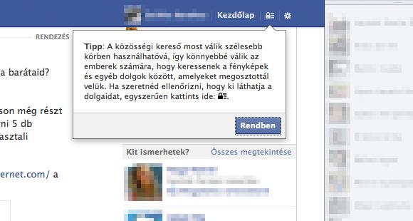 Közösségi kereső Facebook vigyelemztetés