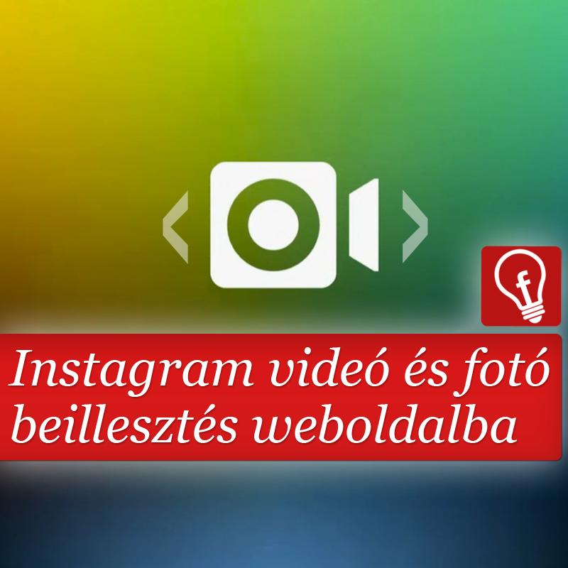 Pár mozdulat és az Instagramos élmények a weboldalba kerülnek