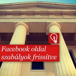 Facebook oldal szabályok frissítve