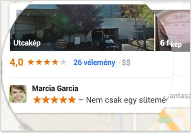 Ajánlás a Google Maps-ben