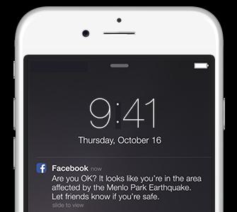 Ha katasztrófa helyzet közelében tartózkodunk, a Facebook megkérdezi, hogy minden rendben van-e?
