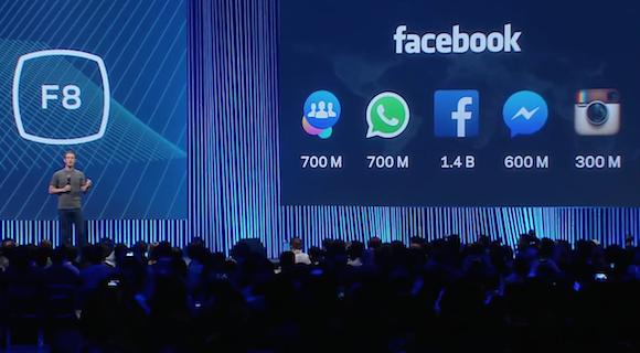 A Facebook alkalmazások családja. Mindegyiknél szép szám van...