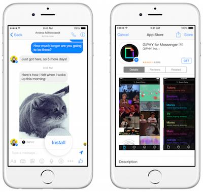 Új, Messenger kompatibilis alkalmazásokkal mémeket, animált gifeket vagy akár egyediesített videókat küldhetünk egymásnak.