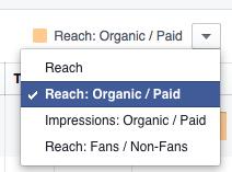 Az oldal statisztikában a bejegyzéseknél kiválaszthatjuk, mire vagyunk kíváncsiak.