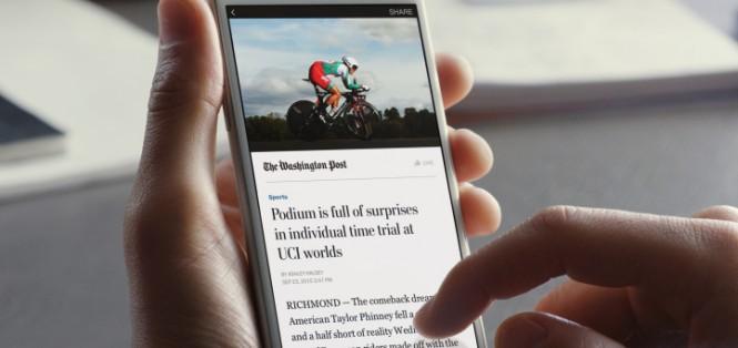 Az Instant cikkek jobb megjelenést hoznak mobilon