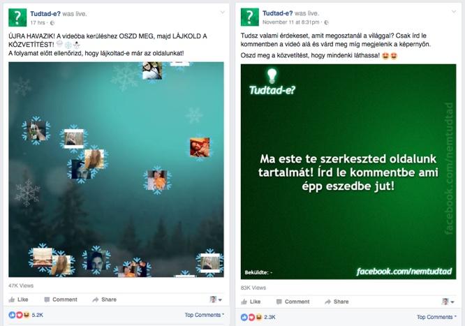 A szavazáson túl plusz funkciókat is lehet használni. A bal oldali videóban a hozzászólók profilképe jelenik meg a közvetítésben, a jobb oldalin pedig maguk a hozzászólások.