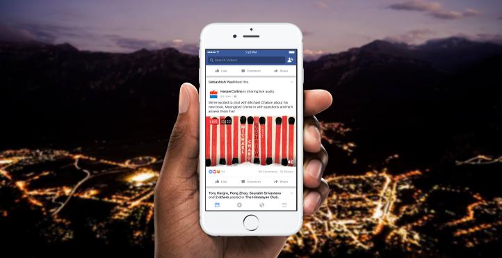 Hamarosan nem kell videó az élő kapcsolattartáshoz. Rádió adás jellegű tartalmak érkeznek a Facebookra.