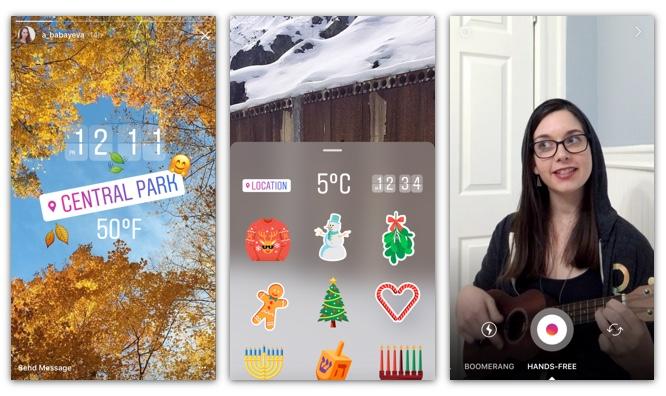 Az Instagram stories újdonságai: különböző matricák ,és Handsfree videófelvétel