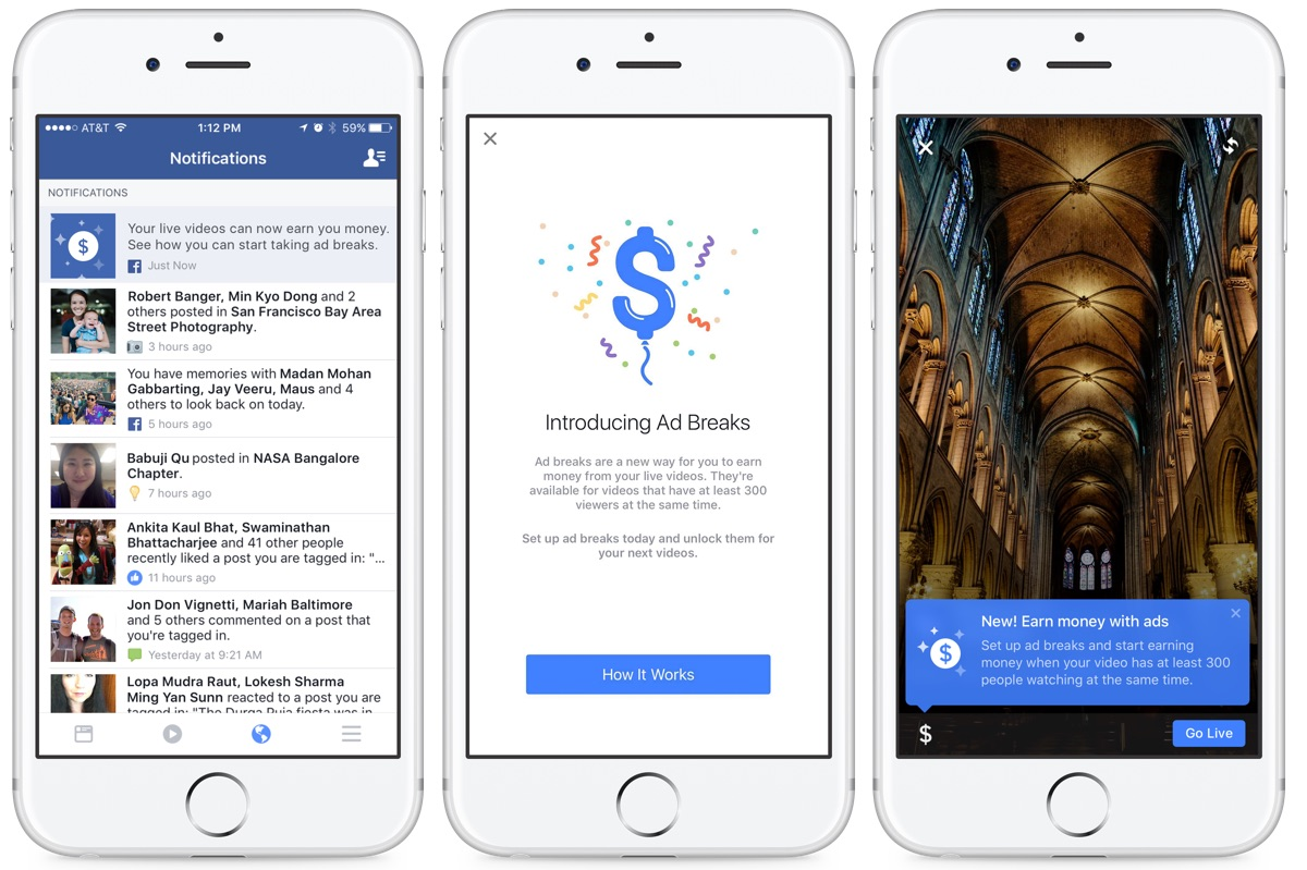 Nem szeretné a Facebook, hogy lemaradjunk a bevételszerzési lehetőségről, ezért minden felületen figyelmeztetni fog.