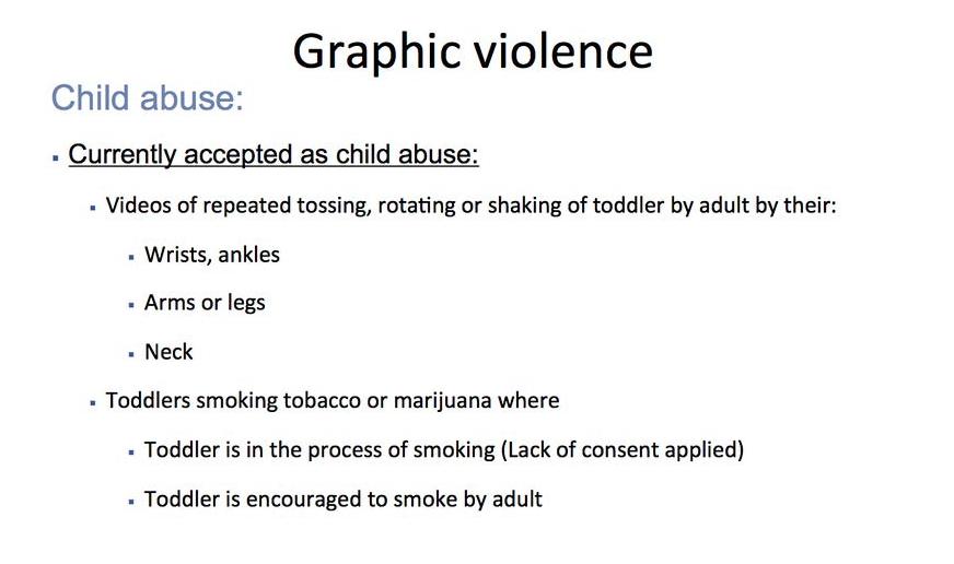 Részlet a gyermekbántalmazással kapcsolatos szabályzatból.