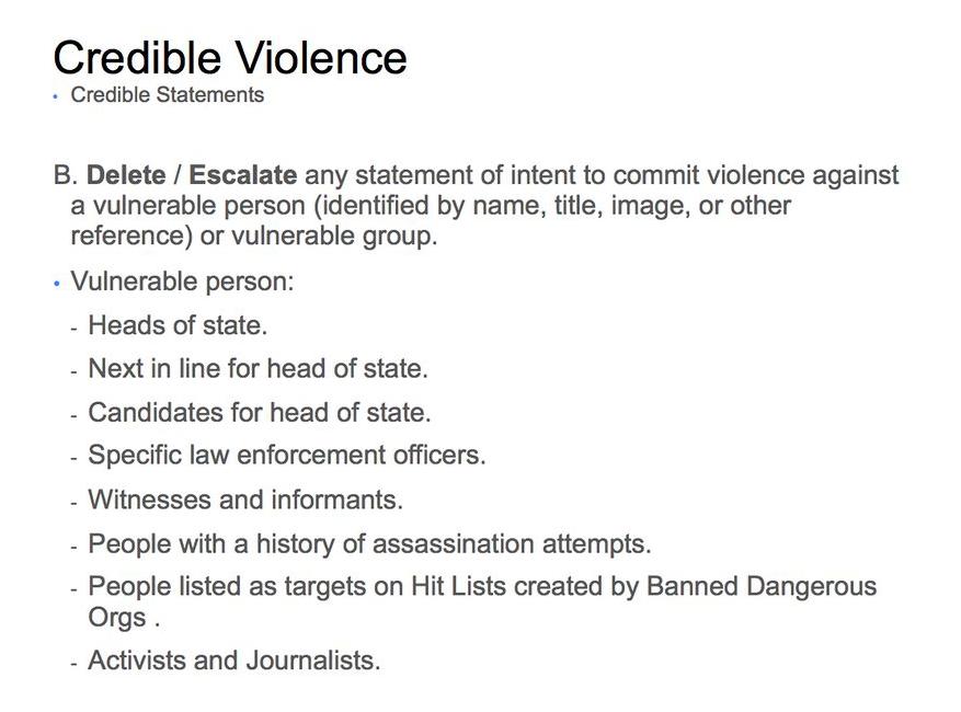 """A védett személyekkel és csoportokkal kapcsolatos """"támadások"""" kevésbé megengedettek."""