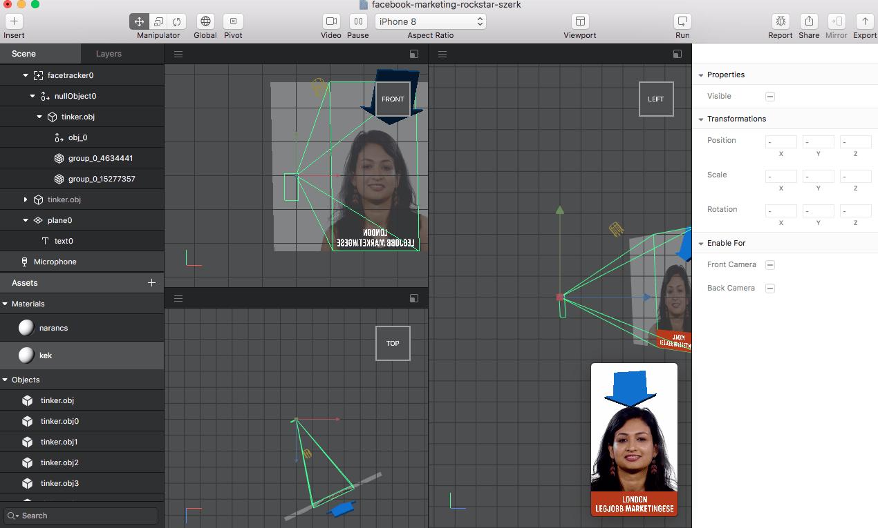 AR Studio: a Facebook kamera számára készíthetünk kiterjesztett valóság megoldásokat