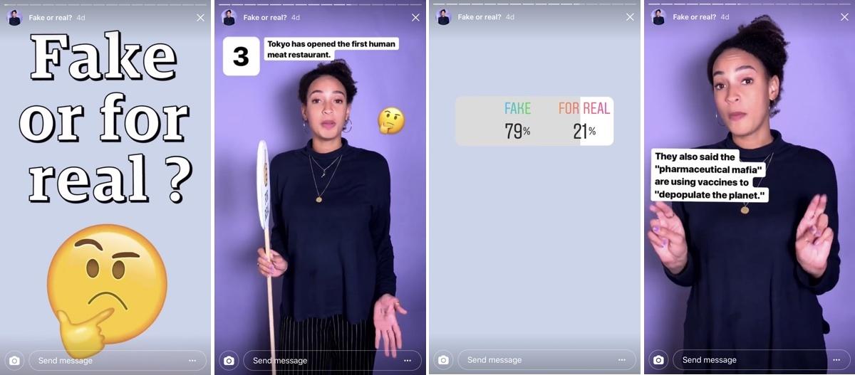 Kamuhír felismerő játék a @guardian Instagram profilján