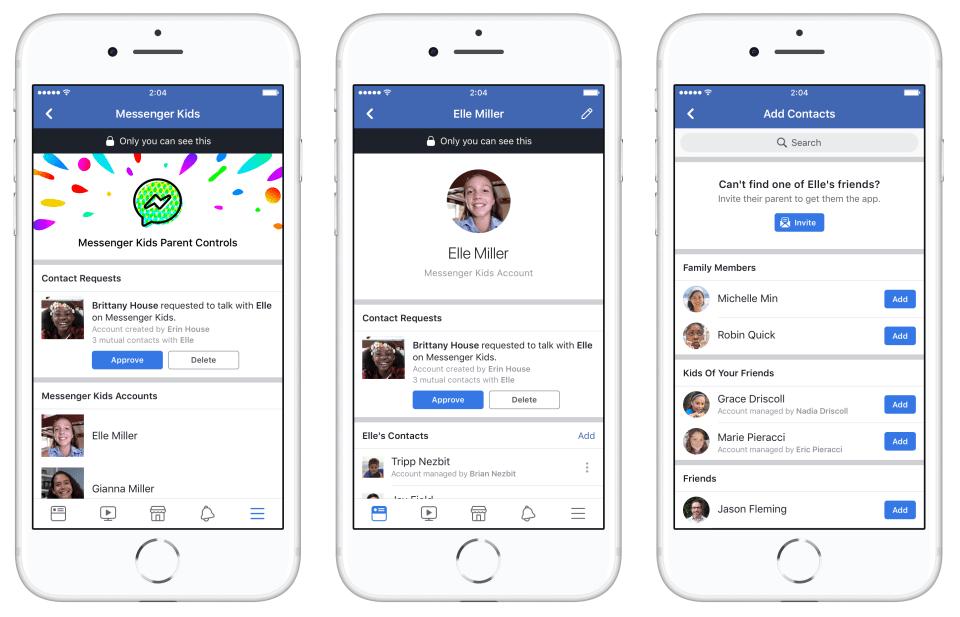 A szülők a fő Facebook alkalmazásukban is tudják engedélyezni a gyermekük kapcsolatfelvételeit